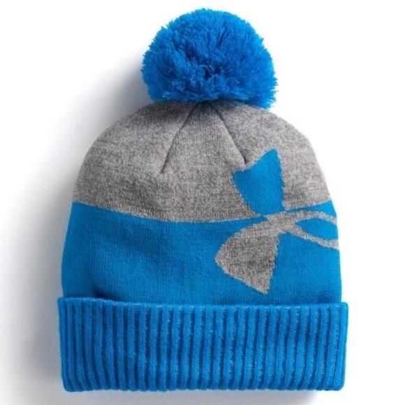 Under Armour Pom Boys Beanie Cold Weather Hat 1E 2dc82bb1e29
